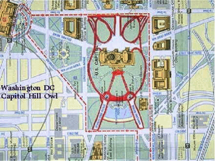 Yes, D.C is built to look like Moloch. Pagan lord of the underworld.