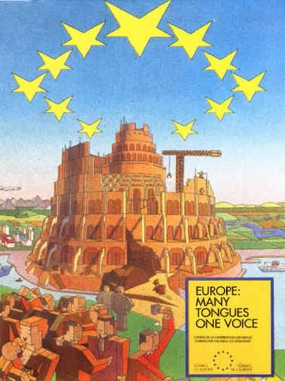 The EU purposely chose the symbology of the Tower of Babel and Nimrod to represent itself.